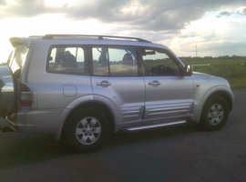 Mitsubishi Shogun Sport, 2002 (02) silver 4x4, Automatic Diesel, 172 miles