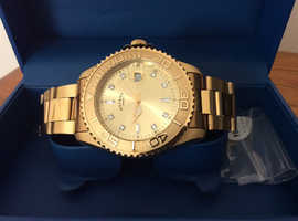 Rotary gents gold plated watch.