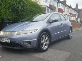 Honda Civic, 2006 Metallic Blue Hatchback, Manual Diesel, 165,000 miles