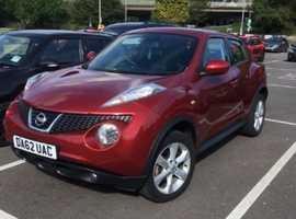 Nissan Juke, 2012 (62) Red Hatchback, Manual Diesel, 37,000 miles