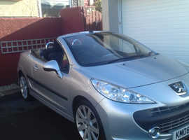 Peugeot 207, 2008 (08) Silver Convertible, Manual Petrol, 51,000 miles. Available mid February