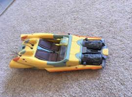 Star Wars - Yellow Air Speeder - With Blast off Panels