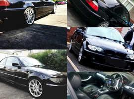 BMW 3 Series, 2004 (04) Black Coupe, Manual Diesel, 164,000 miles