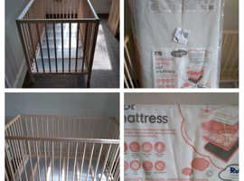 IKEA cot and MotherCare cot mattress