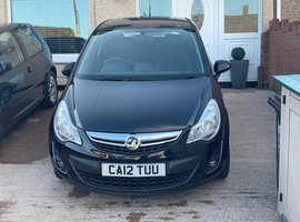 Vauxhall Corsa, 2012 (12) Black Hatchback, Manual Petrol, 67,000 miles