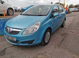 Vauxhall Corsa, 2010 (10) Blue Hatchback, Manual Petrol, 37,000 miles