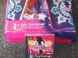 PlayStation Dance Uk 8 Step dance mat with game