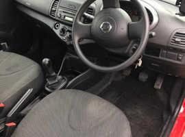 Nissan Micra, 2009 (58) Red Hatchback, Manual Petrol, 28,700 miles. FSH.