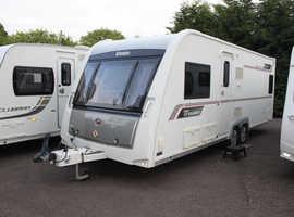 Elddis Crusader Super Sirocco Solid 2013 4 Berth Fixed Bed Twin Axle Caravan + Solar Panel + 4x New Tyres