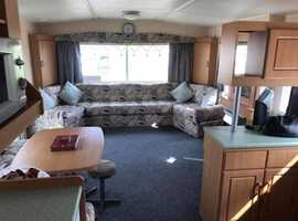 Sited static caravan