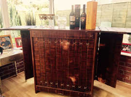 Antique liquor cabinet.