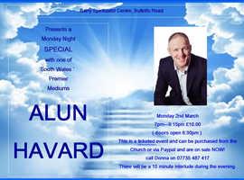 Alun Havard special mediumship evening monday 2nd march at barry spiritualist church