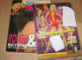 2 x adult erotic dvds double passion, rough and beyond, free post