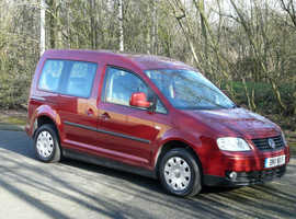 Volkswagen CADDY, 2011 (11) Red MPV, Automatic Diesel, 19,676 miles