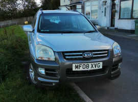 Kia Sportage, 2008 (08) Silver Estate, Manual Petrol, 113,000 miles