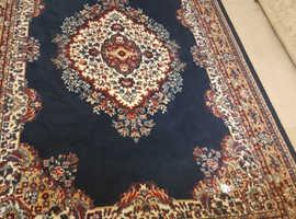 Navy Red Cream Patterned Shiraz Rug 160 x 230 cm