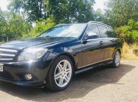 Mercedes C CLASS, 2008 (08) Black Estate, Automatic Diesel, 113,400 miles