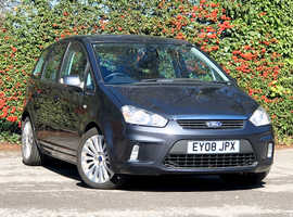 2008 (08) FORD C-Max 2.0 TDCI TITANIUM 5 Dr MPV in GREY, Long MOT, Diesel