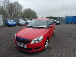 Skoda Fabia, 2012 (61) Red Hatchback, Manual Petrol, 100,000 miles