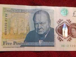 Rare Note £ Five Pound AK 12522888