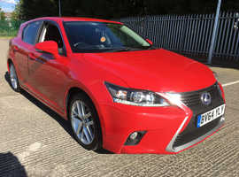 Lexus Ct, 2014 (64) red hatchback, Cvt Hybrid, 99000 miles