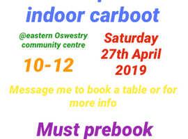 Indoor carboot/table top sale