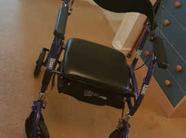 Airgo Navigator by Pride 2 in 1 Mobility Walker / Rollator  &  Transport Chair.