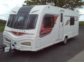 Bailey unicorn Cadiz 2013 four berth touring caravan in excellent condition lots of accessories included