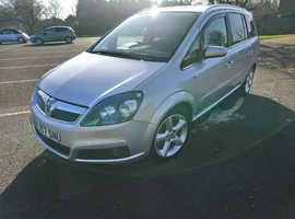 Vauxhall Zafira, 2007 (57) Silver MPV, Automatic Diesel, 84,868 miles