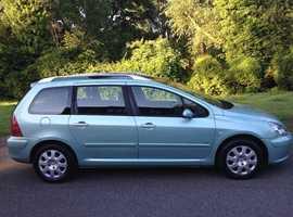 PEUGEOT 307 1.6 DIESEL ESTATE 2004 MOT 7 MONTHS CHEAP CAR TO RUN VERY RELIABLE