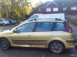 Peugeot 206 sw 2.0 ltr hdi , 2004 (04) Yellow Estate, (SPARES OR REPAIR)