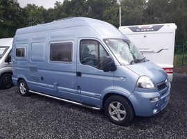 Hightop Vauxhall camper, based on a Morvano model.