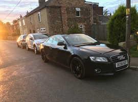 Audi A5, 2008 (08) Black Coupe, Manual Petrol, 97,300 miles