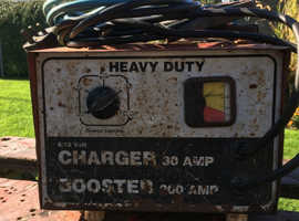 Heavy duty battery charger/ booster starter