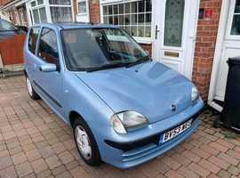Fiat Seicento, 2003 (53) Blue Hatchback, Manual Petrol, 25,500 miles