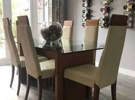 Dining table & 6 chairs with matching sideboard