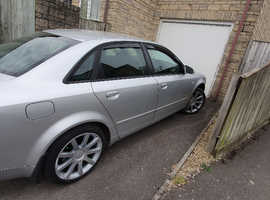 Audi A4, 2003 (53) Silver Saloon, Manual Diesel, 162,000 miles
