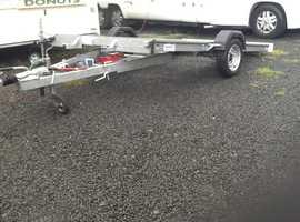"Tilt bed car transporter 10ft x5ft 5"" single axle hydrolic tilt"