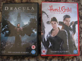 2 DVDS HANSEL AND GRETEL WITCH HUNTERS, DRACULA UNTOLD THE LEGEND IS BORN 15