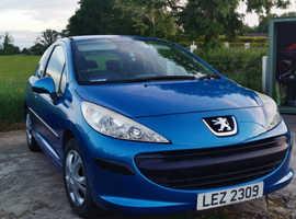 Peugeot 207, 2007 (56) Blue Hatchback, Manual Diesel, 62,500 miles