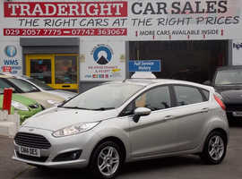2014/14 Ford Fiesta 1.0 Zetec Eco-Boost finished in Moonlight Silver Metallic. 23,911 miles