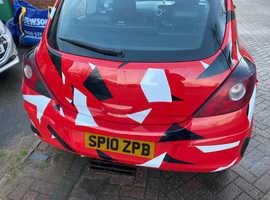 Vauxhall Corsa, 2010 (10) Red Hatchback, Manual Petrol, 126,000 miles