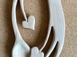 Hand-carved welsh love spoon