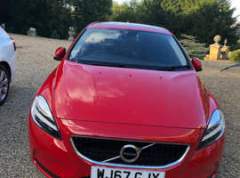 Volvo V40, 2017 (67) Red Hatchback, Manual Petrol, 6000 MILES FROM NEW.  ONE OWNER.