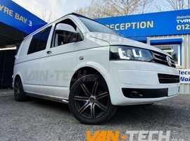 VW Transporter T5 Sportline Side Bars and Lightbar Headlights!