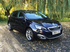 Peugeot 308, 2014 (64) Blue Hatchback, Automatic Diesel, 48,100 miles Finance Available