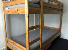 Ikea Bunk beds c/w mattresses. All hardly used.