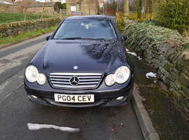 Mercedes C CLASS, 2004 (04) Black Coupe, Automatic Petrol, 94,000 miles