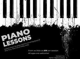Piano lesson in Manchester