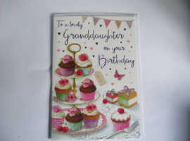 GRANDDAUGHTER BIRTHDAY CARD £2.59